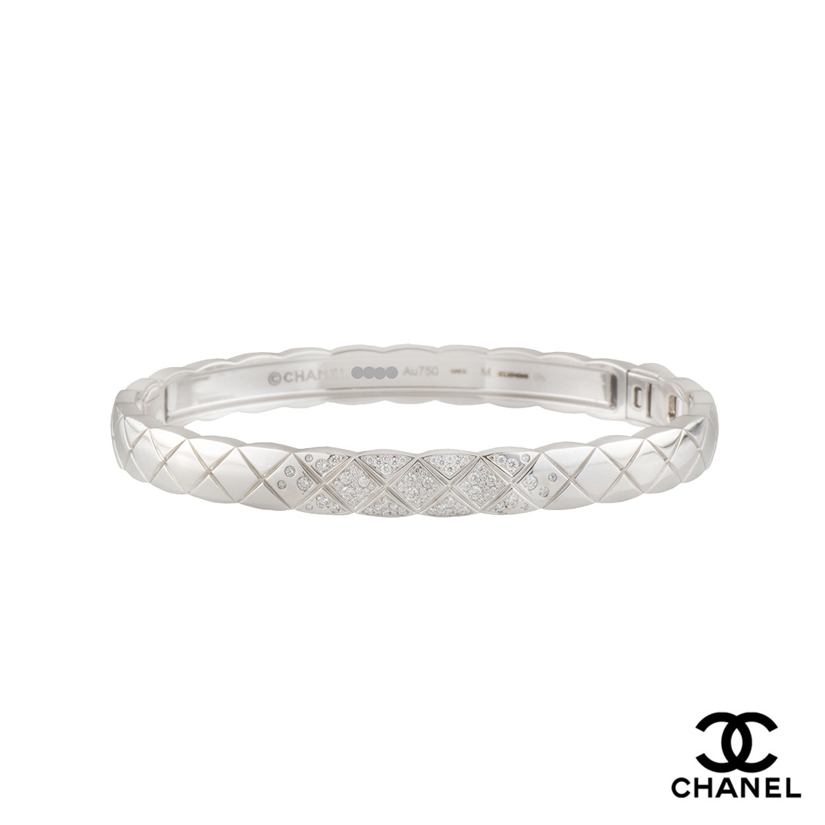 Chanel White Gold Diamond Coco Crush Bracelet J11162